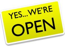 Yes... we´re open