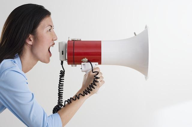 megáfono comunicación